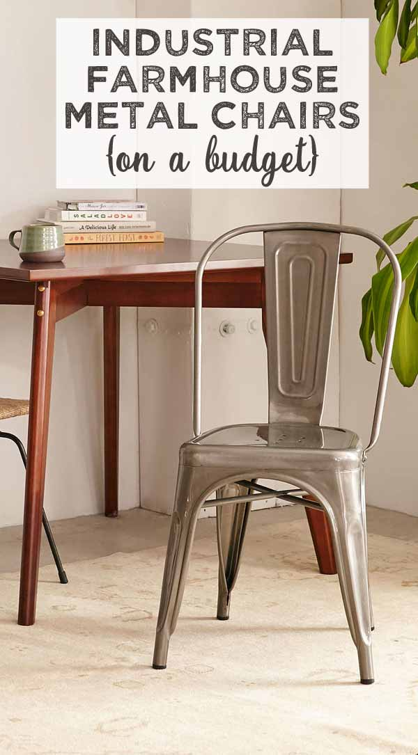 Industrial farmhouse style chairs on a budget for Industrial farmhouse plans
