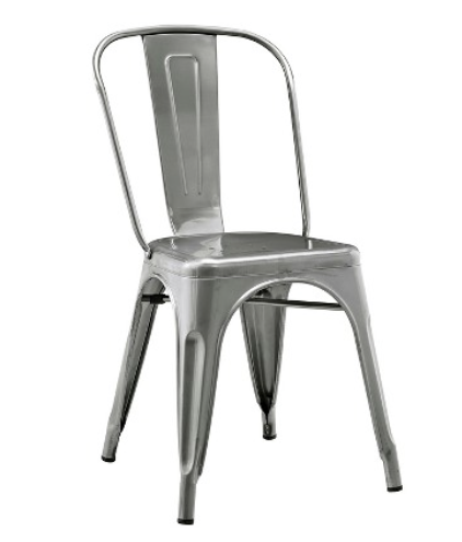 Metal industrial farmhouse style chairs on a budget - this is a good find from Target!