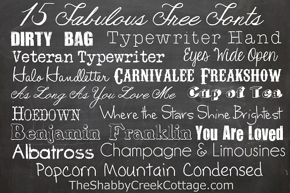 15 Fabulous Free Fonts