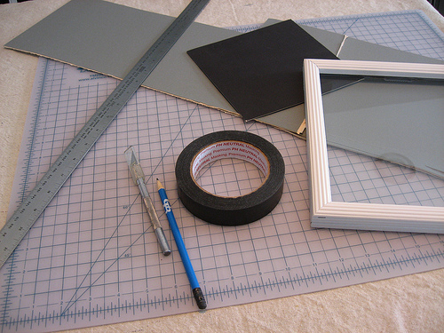 Diy Photo Mats A Great Way To Reuse Old Pieces Of Cardboard