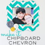 DIY chevron chipboard frame