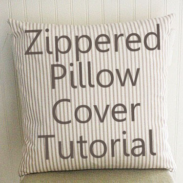 How To Make Zippered Throw Pillow Covers : Zipper Pillow Cover Tutorial