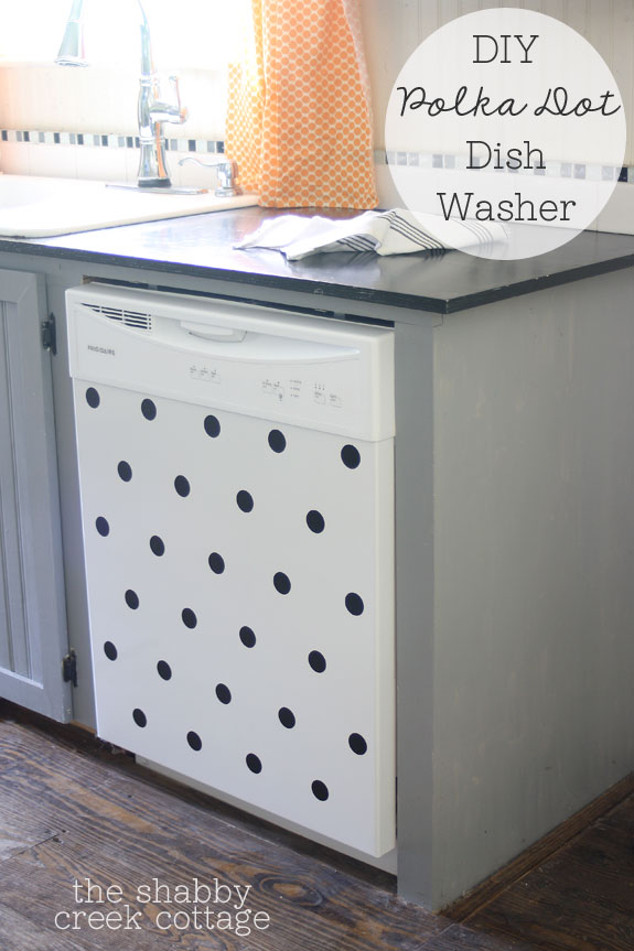 DIY Polka Dot Dishwasher