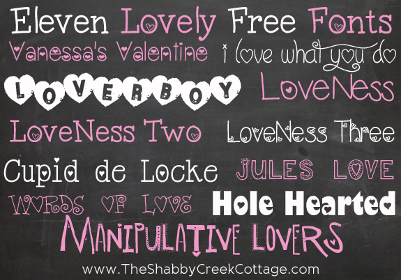 Eleven Lovely Free Fonts
