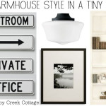 farmhouse style hallway moodboard via The Shabby Creek Cottage