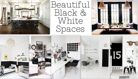 Black and White Spaces