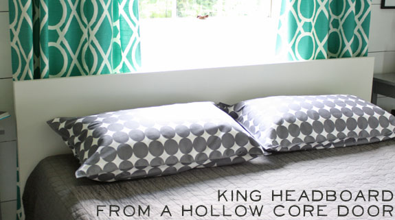 how to make a king size headboard from a hollow core door