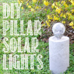 DIY industrial style concrete pillar solar lights