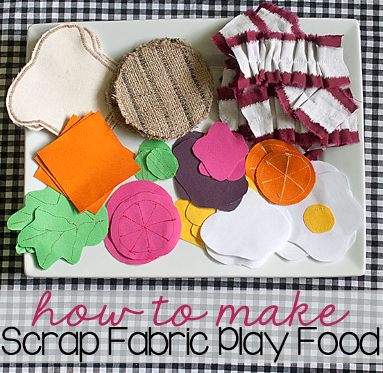 Play Food From Scrap Fabric {a Silhouette Project Tutorial