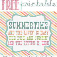 Free Summertime Printable Artwork