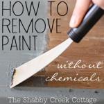 how to remove paint from furniture without chemicals via TheShabbyCreekCottage.com