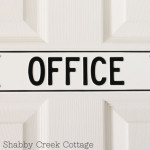 Office sign from Schoolhouse Electric