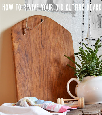 How to revive old cutting boards