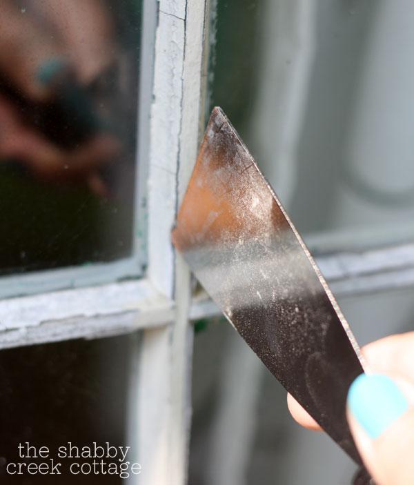 remove window glaze