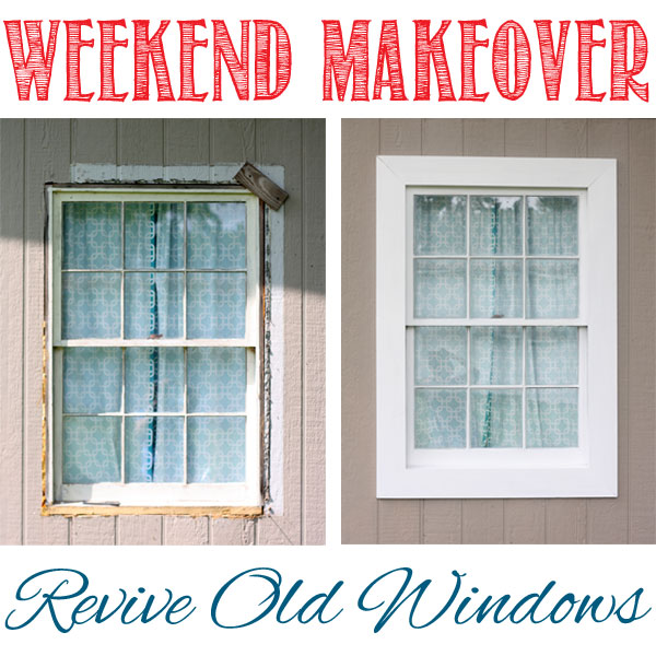 weekend window makeover
