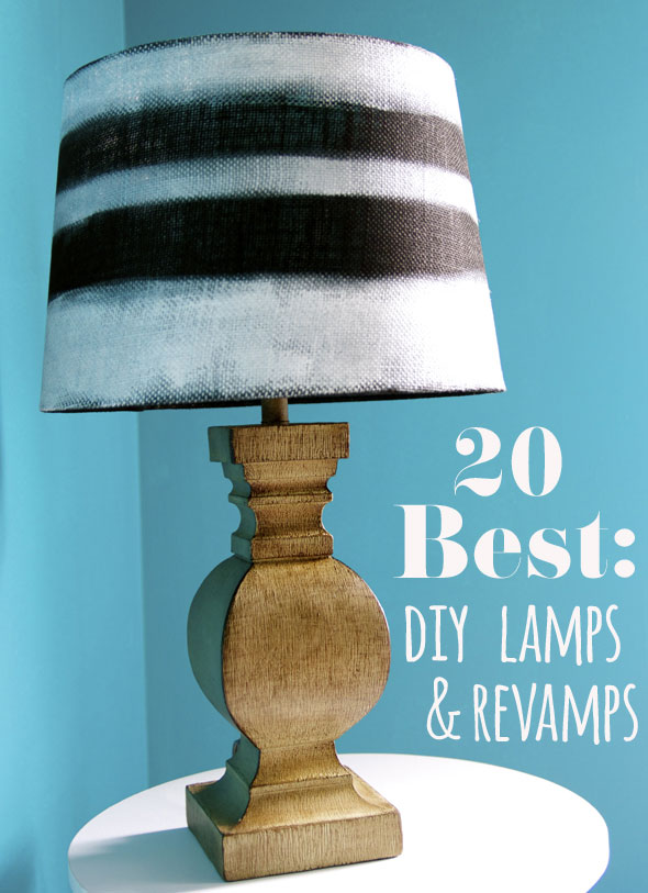 Diy lamp makeover ideas for Redoing lamp shades