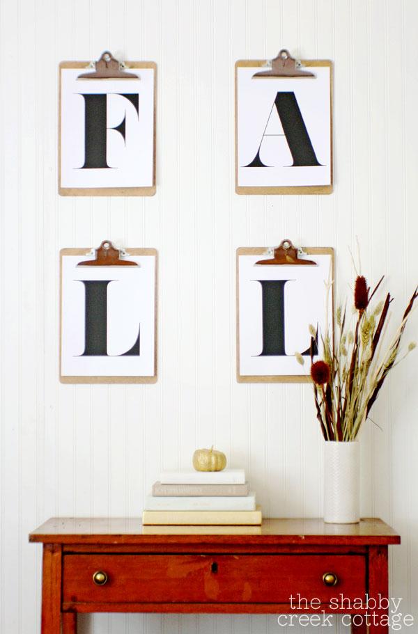 Vintage Inspired Fall Display