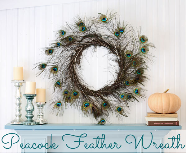Peacock Feather Wreath