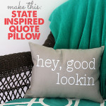 state inspired quote pillow