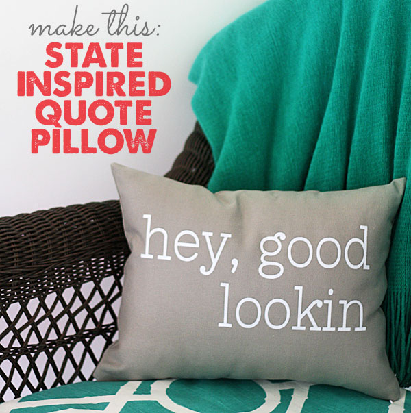 quote pillow diy