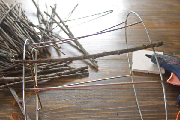 Twig Lamp Shade tutorial
