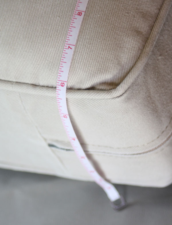 measuring cushions for slipcovers