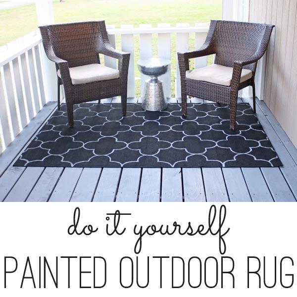 DIY Outdoor Rug (inspired by Zinc Door)