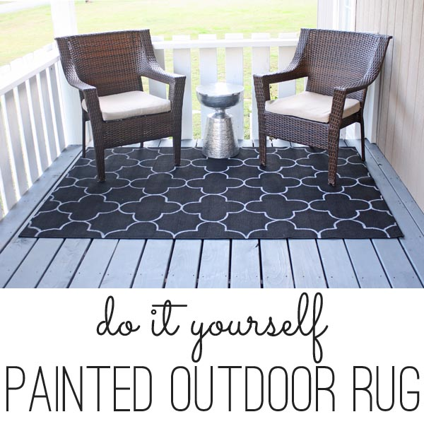 Turn a cheap rug into a show stopper - this project was so easy. And I can't believe how she got that pattern - SO smart!