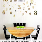 vintage number focal wall