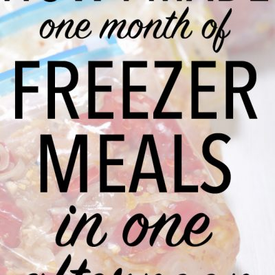 How I made a month of Freezer Meals in one afternoon