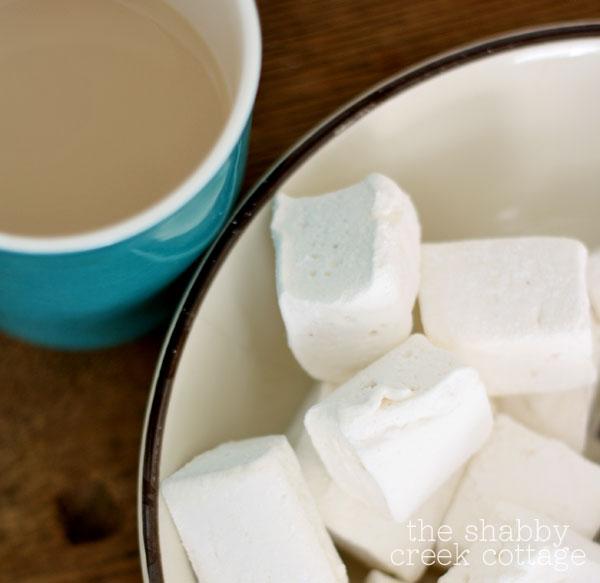 hot cocoa and homemade marshamallows