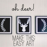deer silhouette art