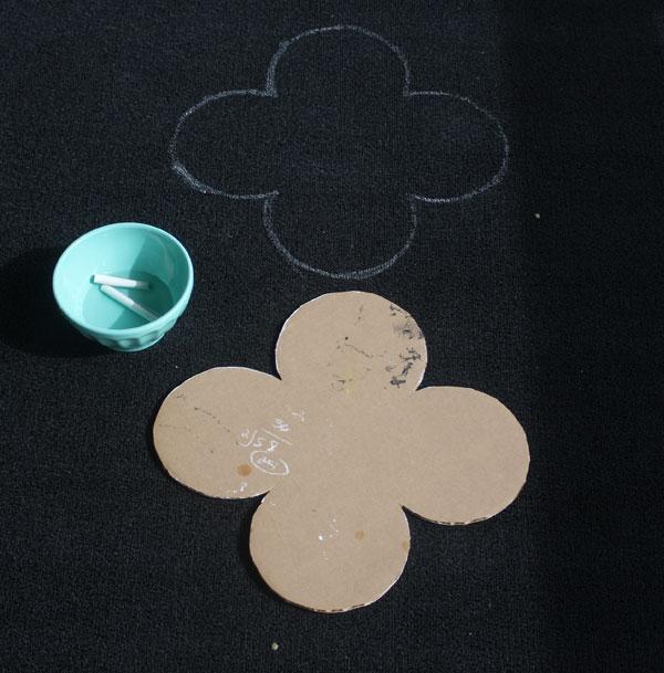 DIY painted outdoor rug