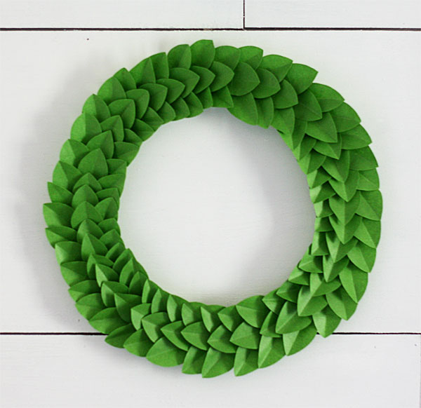 tape leaf wreath