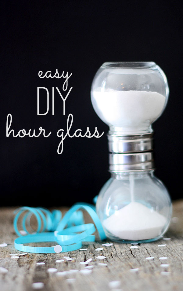 DIY hourglass