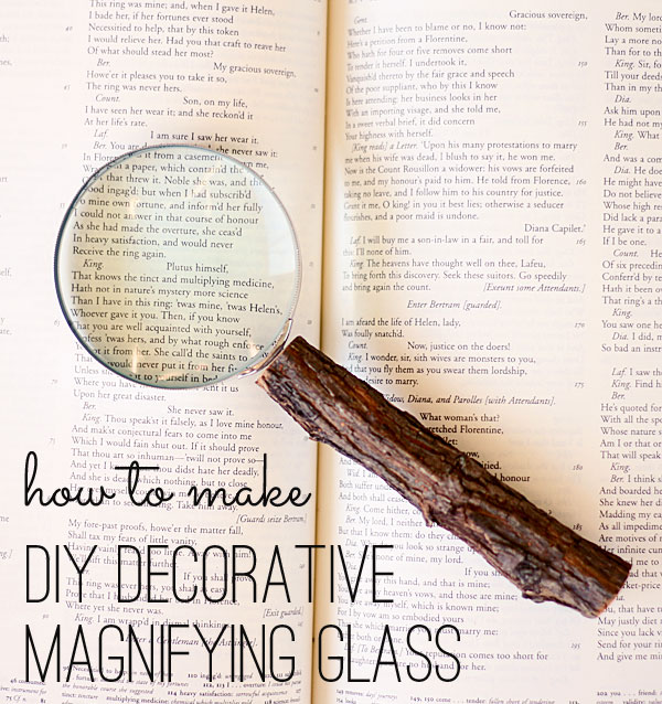 DIY decorative magnifying glass