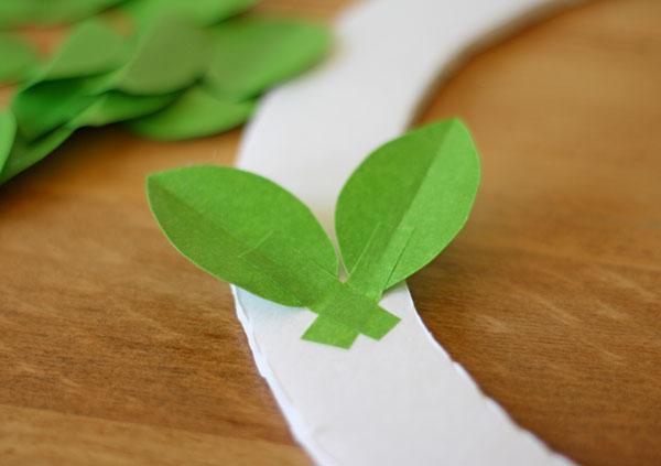 tape leaf wreath