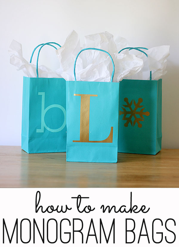Easy monogrammed gift bags perfect for any holiday easy monogram gift bags negle Choice Image