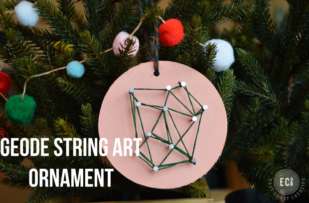 Fun and Creative Holiday ornament: String art Christmas Ornament