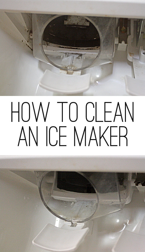 How to clean an ice maker on a refrigerator