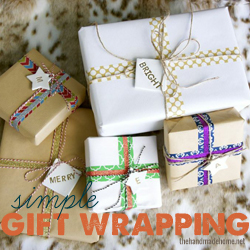 Gift Wrapping IdeasWood Slice Wreath  SnowmanFinding Home Farms