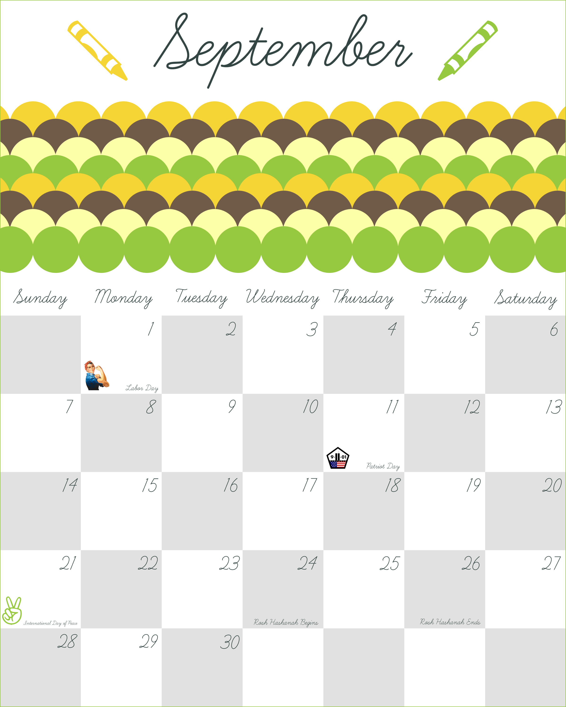 Calendar Party Ideas : Print calendar august with inspirational quotes
