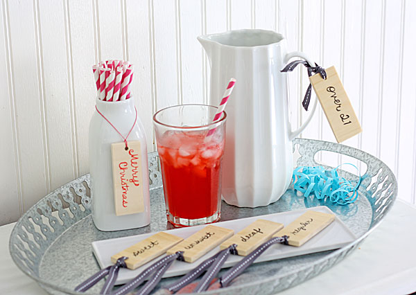 Easy Wooden Beverage Tags