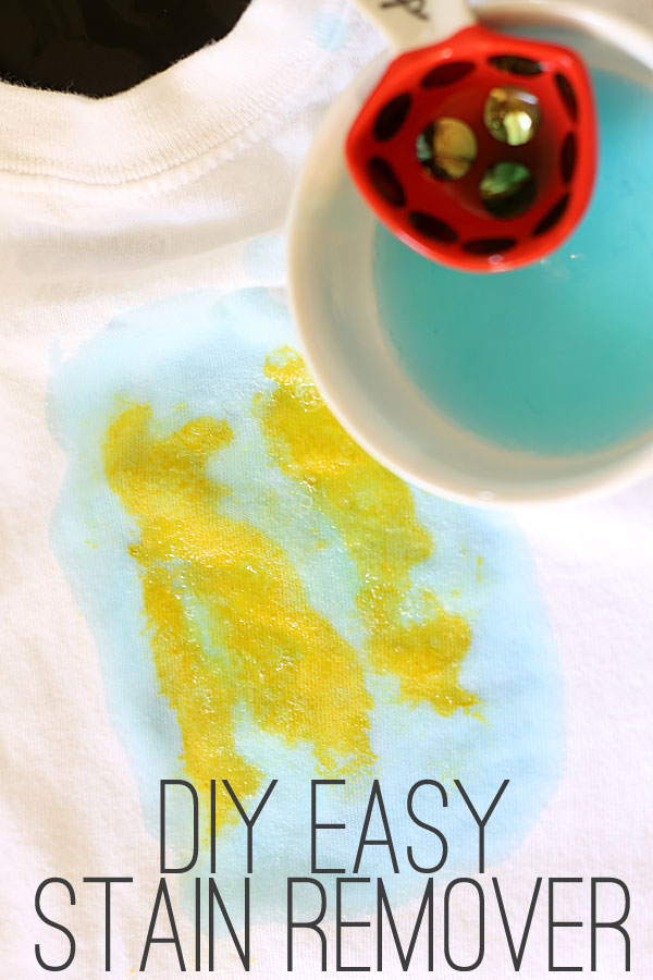 how to make DIY laundry stain remover