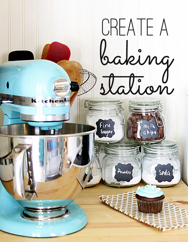 create a holiday baking station