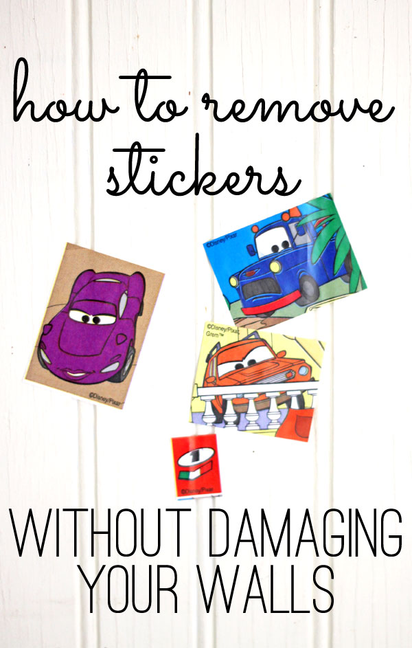 how to remove stickers {without damaging the walls}