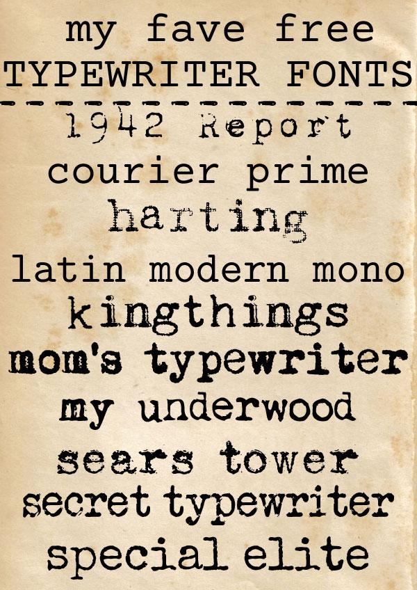 free typewriter fonts