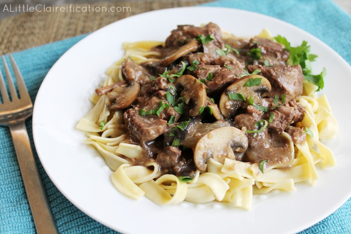 Easy slow cooker beef Burgundy-great for busy days!