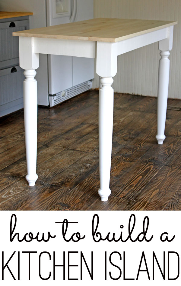 how to build a kitchen island by myself, but it was seriously easy