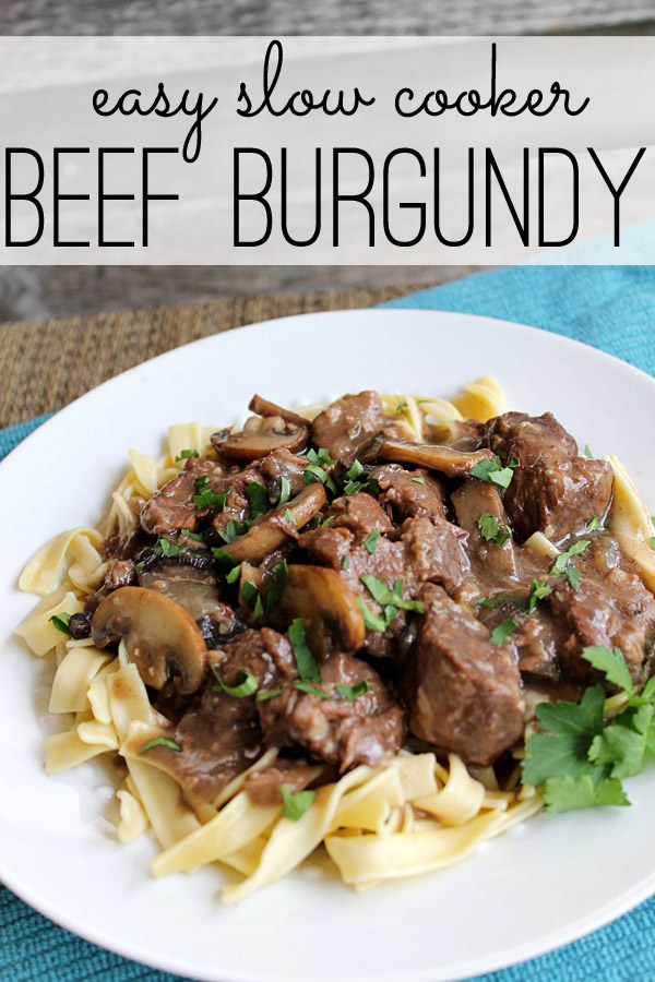 Easy crock pot beef burgundy (slow cooker meal)